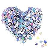 Étoiles Confetti Étoiles Holographiques Confettis Scintillants pour Décoration de Noël, Fournitures de Mariage et Ongles, Mul