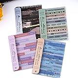 Dizdvizd Autocollants Scrapbook, 24 feuilles Papier Washi Vintage Autocollant pour Scrapbooking, Ordinateur Portable, Agenda,