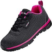 LARNMERN Chaussure de Securité Femme,S1/SBP Respirables Réfléchissantes Anti-Statique Anti-Crevaison Chaussure de…