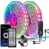 Ruban LED, 20M Bande LED Ultra-longue Lumineuse LED 5050 RGB Contrôlé par Télécommande APP, Synchroniser avec Rythme de Musiq