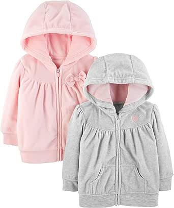 Simple Joys by Carter's Bébé fille 2- Pack Fleece Full Zip Hoodies
