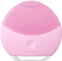 FOREO LUNA mini 2 Facial Cleansing Brush and Anti-aging Skin Care device, Face Brush made with Soft Silicone for Every Skin Type Pearl Pink
