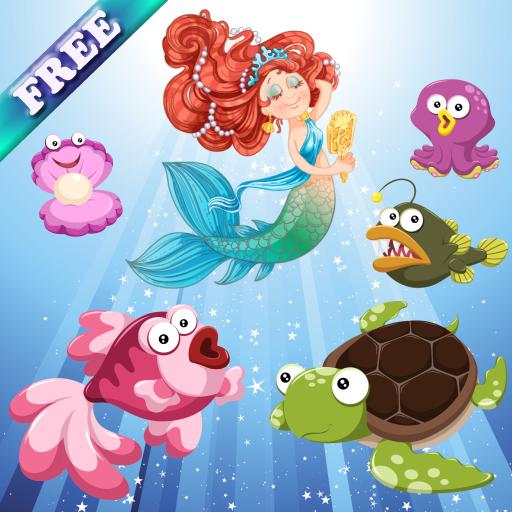 Meerjungfrauen und Fische für Kleinkinder und Kinder: Entdecken Sie den Ozean! Kostenlose App