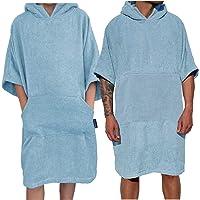 HOMELEVEL Asciugamano Poncho Adulto da Surf e Spiaggia in Cotone 100% con Cappuccio e Tasche Adulto