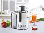 Black+Decker 250W Juicer Extractor with Large Feeding Chute, White, JE250-B5
