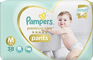 Pampers Premium Care Pants Diapers, Medium, 38 Count