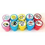 FunBlast 10 Pcs Motivation Stamper for Kids - Plastic Stamper Toys Art & Craft for School Supplies Toys for Kids/Boys/Girls-