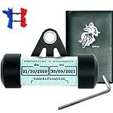 Ugozen Porte Vignette Assurance Moto + Pochette Carte Grise, Accessoires Moto Support De Vignette Assurance Etanche Noir 50x3