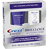 Crest 3D White Brilliance - Sistema de gel dental y blanqueador de limpieza diaria (Daily Cleansing Toothpaste And Whitening
