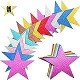 Gejoy 80 Piezas Recortes de Estrellas Brillantes Recortes de Confeti de Estrellas de Papel para Suministro Decoración de Tabl