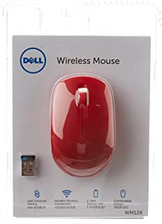 Dell WM126 Wireless Optical Mouse  Red