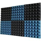 Ice Blue/Charcoal Acoustic Foam Sound Absorption Pyramid Studio