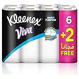 KLEENEX VIVA Multi Purpose House Hold Tissue, Pack of 8 Kitchen Towel Rolls, 40 Tissues