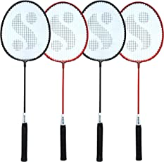 Silver's SIL-SM-Combo-7 Aluminum Badminton Racquet, Pack of 4