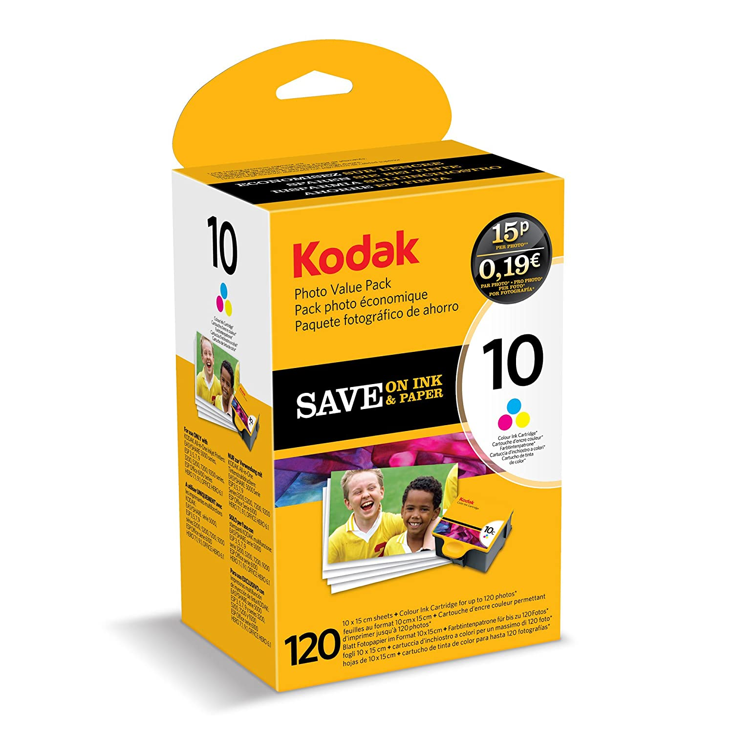 kodak genuine 10b 10c ink cartridge combo pack black colour