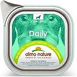 almo nature, Cibo Umido Senza glutine con Vitello e Carote per Cani Adulti, Confezione da 32 vassoi da 100 g, 100% riciclabil
