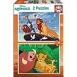 Educa - Rey Leon 2 Puzzles Infantiles de 48 Piezas, a Partir de 4 años (18629)