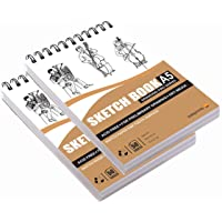 Askprints 50 Sheet A5 Sketchbook Set of 2-5.8 x 8.3 Inch | Top Spiral-Bound Sketchpad for Artists | Sketching and…
