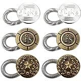 Ayliss® Wunderknöpfe Set 6X Knopf Knöpfe mit Feder Wunder Button Extender für Hose Hosenerweiterung Hosenknopfverlängerung Bunderweiterung Hosen Erweiterung Schwangerschaft