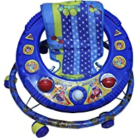 Baby's Round Base Singel Horn Walker, 9 Months to 1.5 Years,and Baby Walker for 6 to 12 Months Baby Adjustable