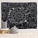 Yordawn Tapiz Pared 12 Constelación Decoracion Pared Black y White Tapiz Pared Decoracion Tapiz de Pared Grande Wall Tapestry