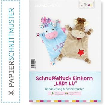 kullaloo Einhorn Schnuffeltuch nähen: Papierschnittmuster Einhorn ...