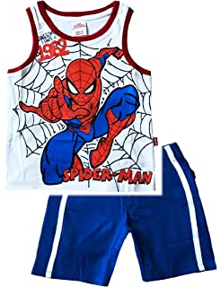 Completo Bambino Spiderman T-Shirt Pantaloncino Estate 2020
