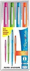 Paper Mate Flair-Stift, mittlere Spitze, 1,1mm, sortierte FUN-Farben, Tasche mit 4Stiften