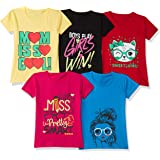 T2F Girl's Regular Fit T-Shirt