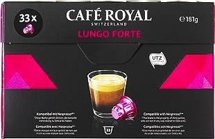 Café Royal Lungo Forte 33 Capsules Compatibles avec le Système Nespresso*,  Intensité 8/10