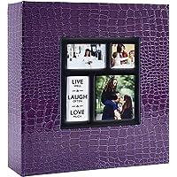 Ywlake Album Photo 1000 Pochettes 10x15cm Photos Grand Format Famille Mariage Classique Couverture en Cuir Crocodile…