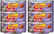 Purina Friskies Prime Filets Turkey Dinner in Gravy Adult Wet Cat Food - 5.5 oz. Can (6 Cans)