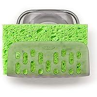 OXO Good Grips Porte-éponge avec ventouse StrongHold™ – Organisateur pour évier de cuisine - Taille Unique