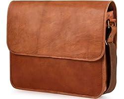 Berliner Bags Umhängetasche Ghent aus Leder Messenger Bag Laptoptasche für 15 – 15.4 Zoll Ledertasche Herren Damen Braun