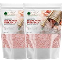 Bliss of Earth Pure Himalayan Pink Salt of Pakistan for Healthy Cooking, Natural Substitute of White Salt, 2x500GM
