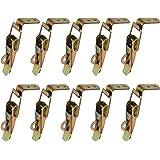 Gurxi 10 Stuks Eend Gefactureerde Gespen Vang Klem Spanning Lock Rvs Lente Geladen Toggle Vangst Sluiten voor Case Box Toolbo