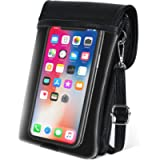 Touch Screen Phone Bag,【Genuine Leather】 befen Touchable Crossbody Phone Bag for Women,Small Clear Window Touchscreen…
