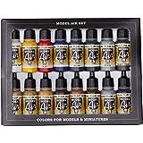 Vallejo 771178 Model Air Basic Colors Acrylverfset Voor Air Brush, Meerkleurig, Pak Van 16