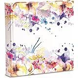 Album Fotografico 31X31 Disegno Floreale, 80 pagine con velina