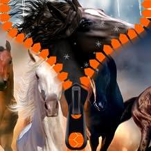 Pantalla de bloqueo de la cremallera caballos
