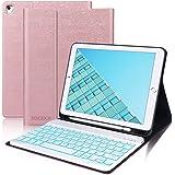 D DINGRICH Custodia con Tastiera per iPad 10.2/iPad 8 Generazione 2020/iPad 7 Generazione 2019/iPad Pro 10.5/iPad Air 3, Cove