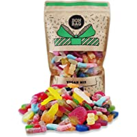 Large 1 Litre Vegan Sweets Pick'n'Mix Bag - Mixed Fizzy and Fizz Free Vegan Candy Gift Bag for Birthdays and Other…