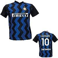 DND DI D'ANDOLFO CIRO Maglia Calcio Inter Lautaro 10 Replica Autorizzata 2020-2021 Taglie da Bambino e Adulto