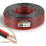 MANAX Câble de haut-parleur CCA 2 x 2,5 mm² rouge/noir