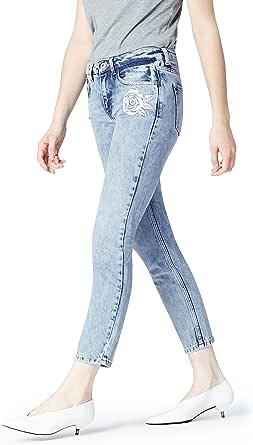 find. Jeans Dritti con Ricami Donna