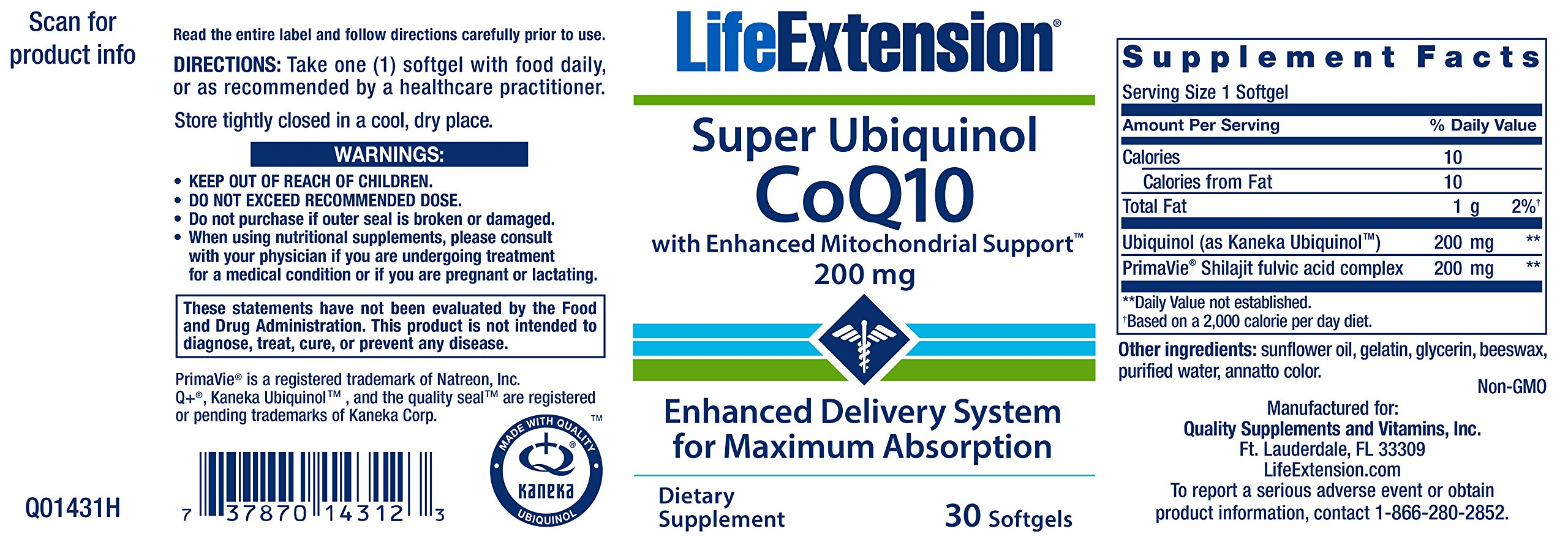 81gXgy%2BUMoL - Life Extension Super Ubiquinol CoQ10 with Enhanced Mitochondrial Support, 200mg, 30 softgels