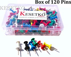 KESETKO Thumb Pins, Push Pins, (120 Pcs) Multicolord for Offices, Homes