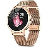 NAIXUES Smartwatch, Reloj Inteligente para Mujer, Reloj Deportivo Impermeable IP67 con Monitor de Sueño Pulsómetro Podómetro