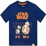 Star Wars Camiseta de Manga Corta para Niños D-O y BB8 La Guerra de Las Galaxias