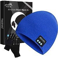TAGVO Bluetooth V5.0 Beanie con Guanti Touchscreen Set, Inverno Caldo Lavorato a Maglia Senza Fili Bluetooth Cuffia…